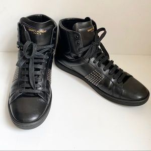 Saint Laurent Unisex 9.5W 8M Microstud Sneakers